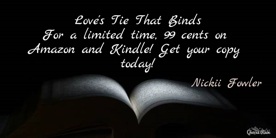 for a limited time 99 cents on amazon and kindle get your copy today...
