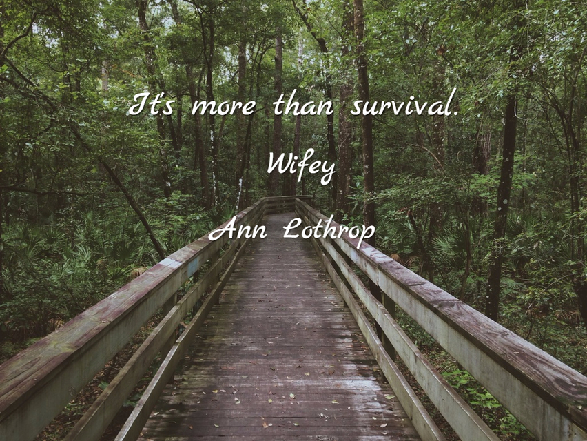 its more than survival...