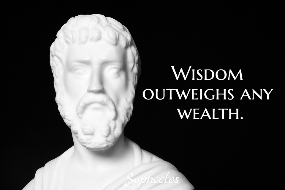 wisdom outweighs any wealth...