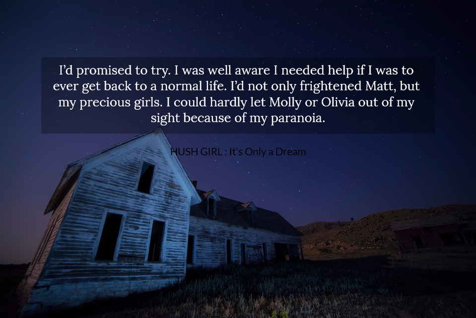 id promised to try i was well aware i needed help if i was to ever get back to a...