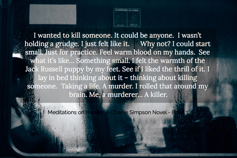 i wanted to kill someone it could be anyone i wasnt holding a grudge i just felt...