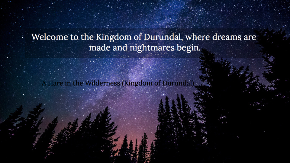 welcome to the kingdom of durundal where dreams are made and nightmares begin...
