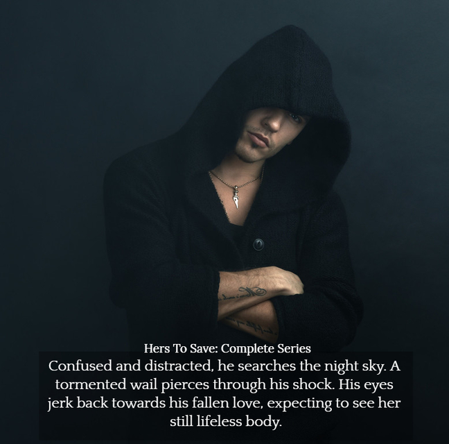 confused and distracted he searches the night sky a tormented wail pierces through his...