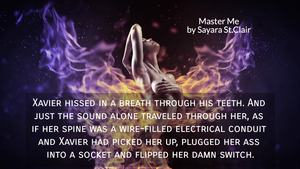 xavier hissed in a breath through his teeth and just the sound alone traveled through...