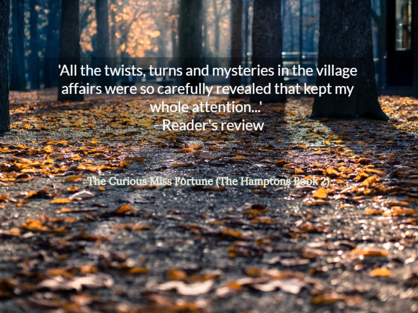 all the twists turns and mysteries in the village affairs were so carefully revealed...