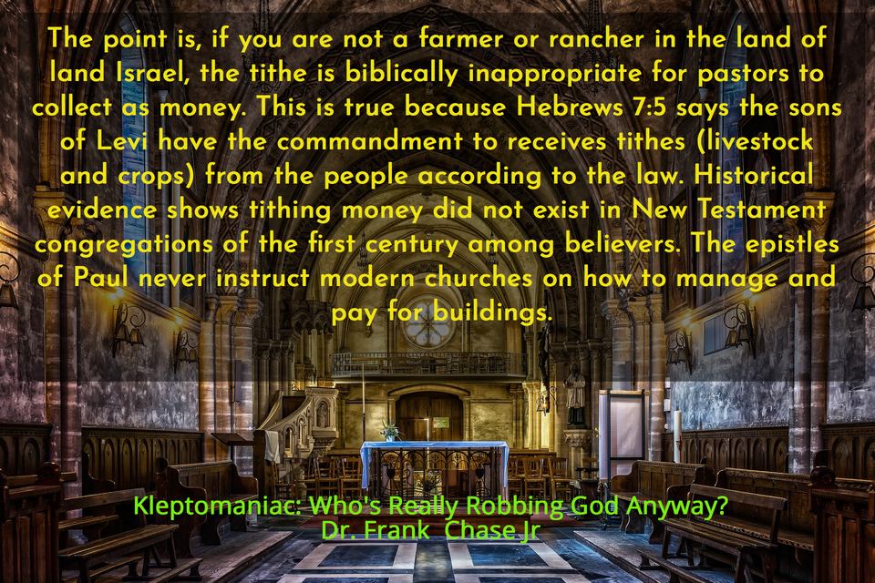 the point is if you are not a farmer or rancher in the land of land israel the tithe is...