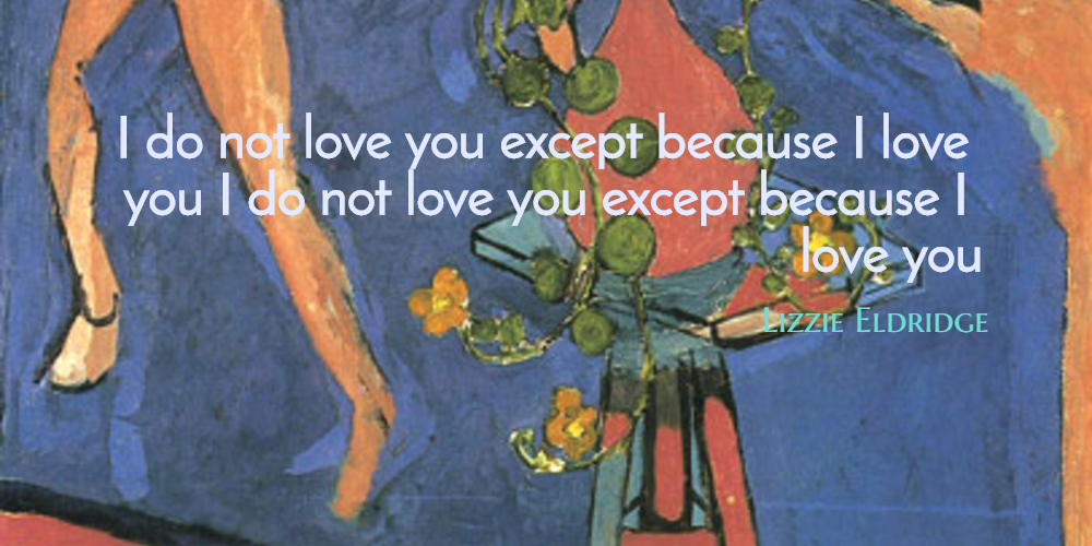 i do not love you except Experiencing poetry: i do not love thee thee initial response: it seems to me  that this poem is about a girl's struggle to come to terms with.