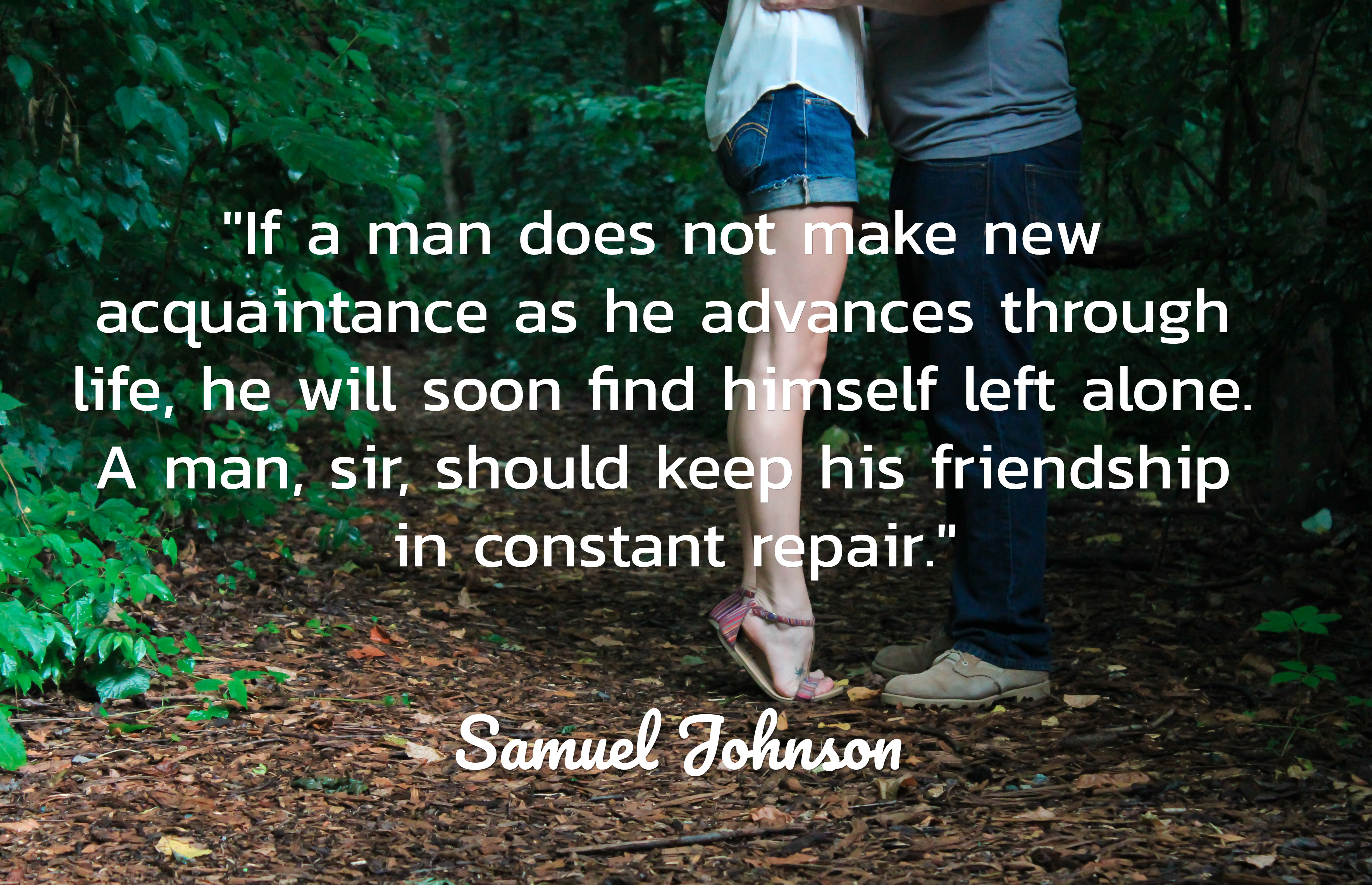 If a man does not make new acquaintance    Picture Quotes