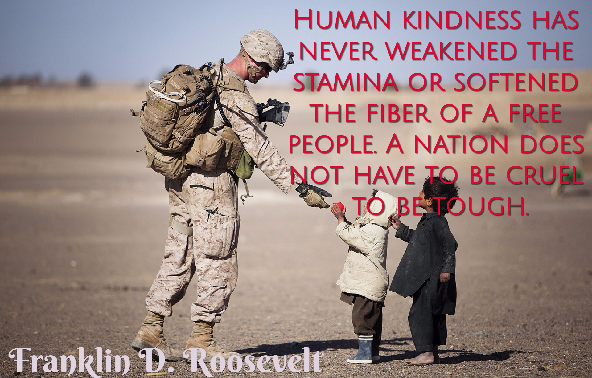 Human kindness has never weakened the... Picture Quotes 1162 ...