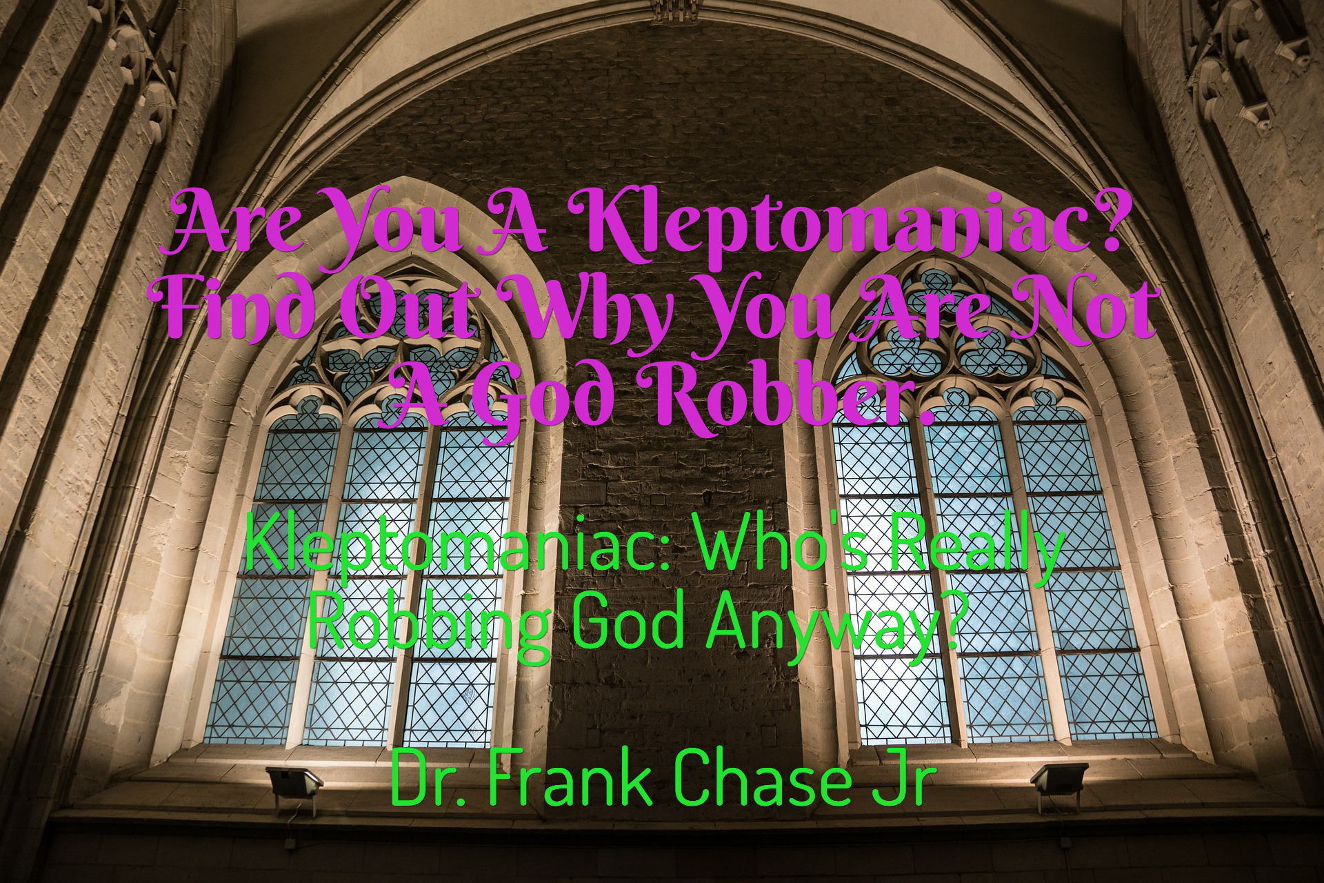 are you a kleptomaniac find out why you are not a god robber...