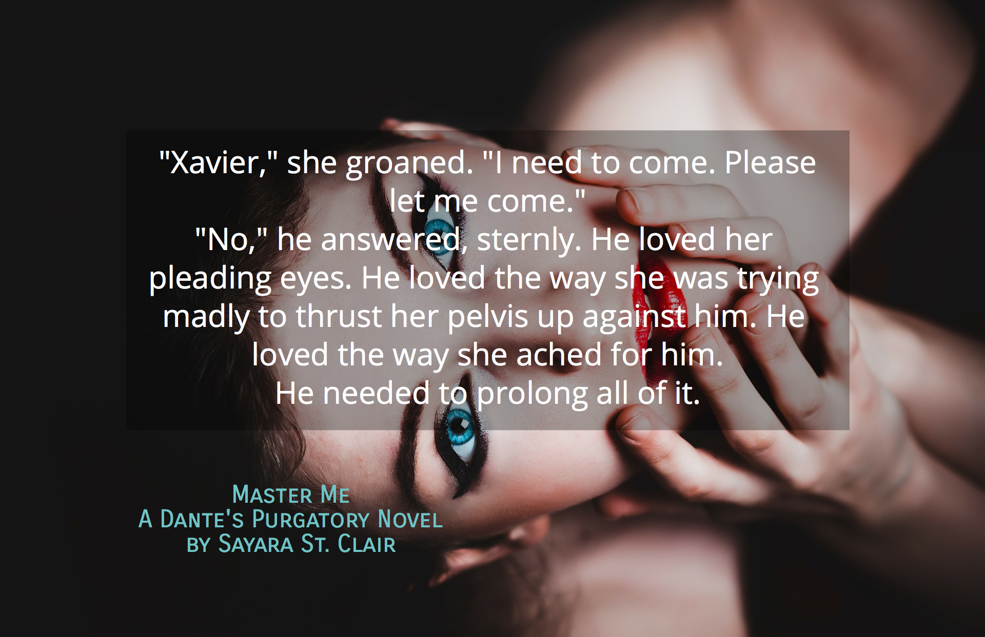 her lids popped open and her gaze locked on to his xavier she groaned i need to...