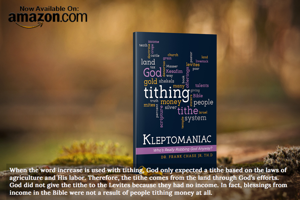 when the word increase is used with tithing god only expected a tithe based on the laws...