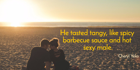 he tasted tangy like spicy barbecue sauce and hot sexy male...