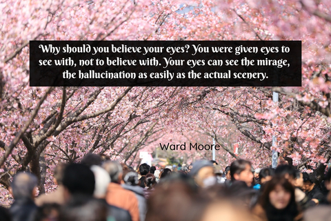 why should you believe your eyes you were given eyes to see with not to believe with...