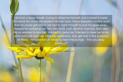 he took a deep breath trying to distance himself but instead it made him want her more...