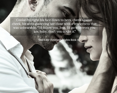 conlan brought his face down to hers cheek against cheek his arms gathering her close...