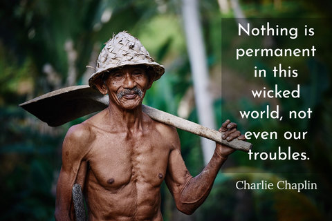 nothing is permanent in this wicked world not even our troubles...
