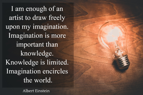 i am enough of an artist to draw freely upon my imagination imagination is more...