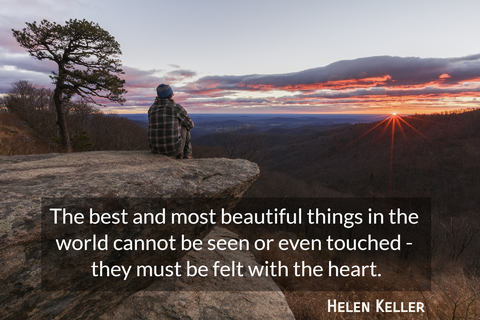 the best and most beautiful things in the world cannot be seen or even touched they...