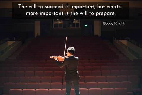 the will to succeed is important but whats more important is the will to prepare...