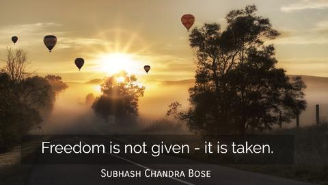 freedom is not given it is taken...