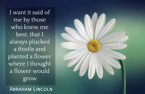 i want it said of me by those who knew me best that i always plucked a thistle and...