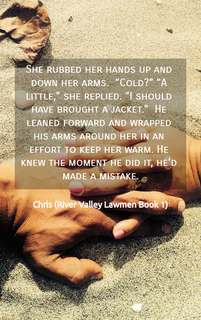 she rubbed her hands up and down her arms cold a little she replied i...