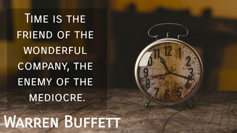 time is the friend of the wonderful company the enemy of the mediocre...