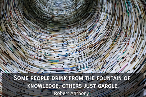 some people drink from the fountain of knowledge others just gargle...