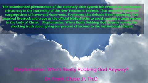 the unauthorized phenomenon of the monetary tithe system has created an entitlement...