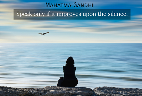 speak only if it improves upon the silence...