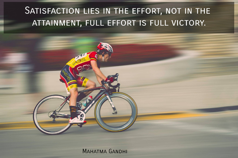satisfaction lies in the effort not in the attainment full effort is full victory...