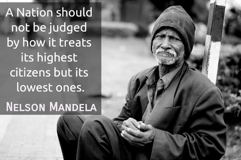 a nation should not be judged by how it treats its highest citizens but its lowest ones...