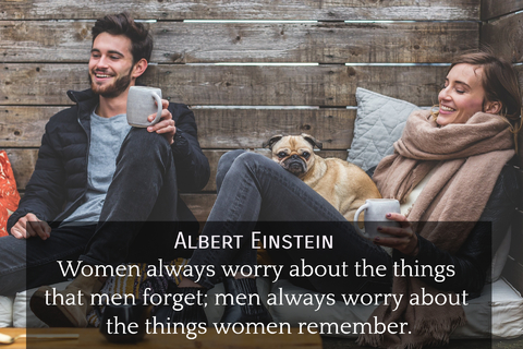 women always worry about the things that men forget men always worry about the things...