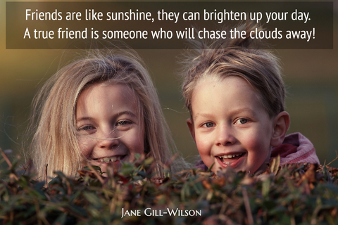 friends are like sunshine they can brighten up your day a true friend is someone who...
