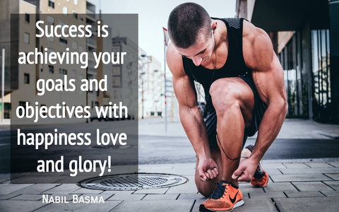 success is achieving your goals and objectives with happiness love and glory...