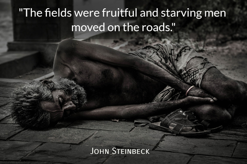 the fields were fruitful and starving men moved on the roads...