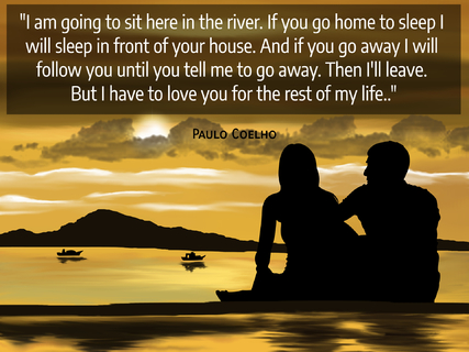 i am going to sit here in the river if you go home to sleep i will sleep in front of...