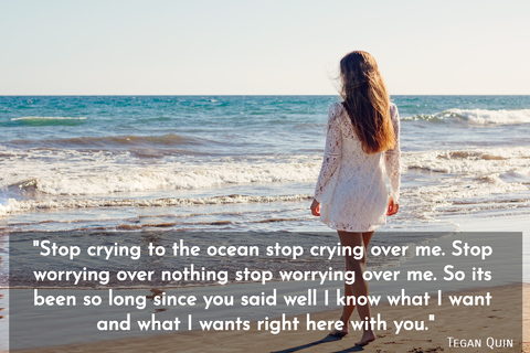 stop crying to the ocean stop crying over me stop worrying over nothing stop worrying...