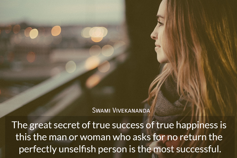 the great secret of true success of true happiness is this the man or woman who asks for...