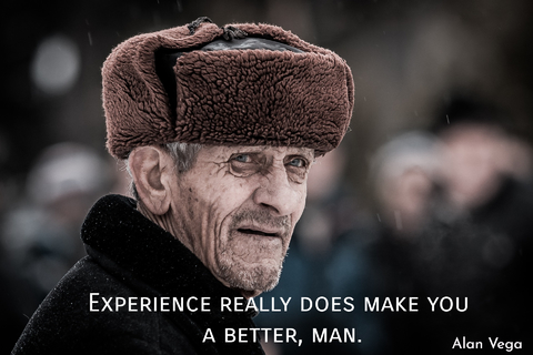 experience really does make you better man...