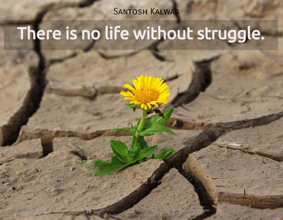 there is no life without struggle...
