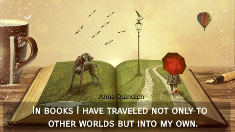 in books i have traveled not only to other worlds but into my own...