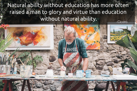 natural ability without education has more often raised a man to glory and virtue than...