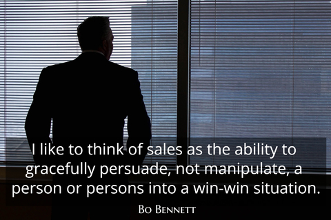 i like to think of sales as the ability to gracefully persuade not manipulate a person...