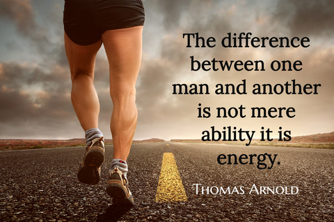 the difference between one man and another is not mere ability it is energy...