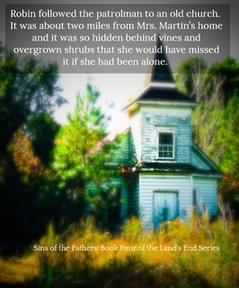 robin followed the patrolman to an old church it was about two miles from mrs...