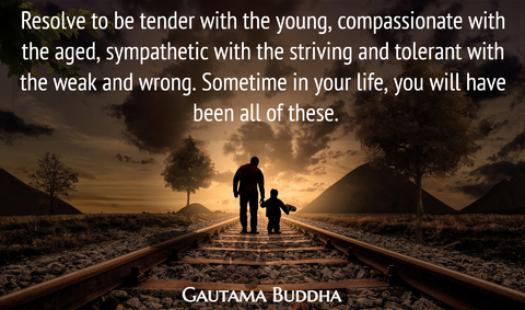 resolve to be tender with the young compassionate with the aged sympathetic with the...