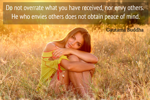 do not overrate what you have received nor envy others he who envies others does not...