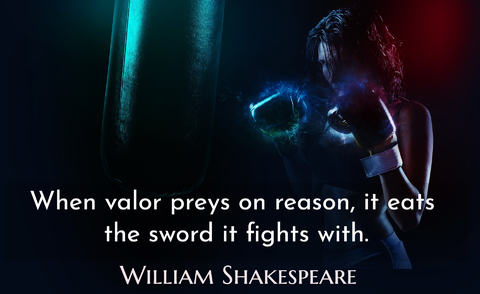 when valor preys on reason it eats the sword it fights with...
